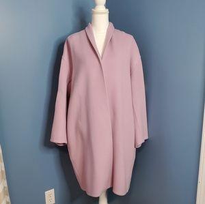 VINCE Lavender Wool Blend Collarless Coat XL NWT